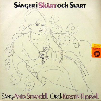 ANITA STRANDELL / SANGER I SKART OCH SVART [USED LP]