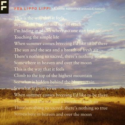 FRA LIPPO LIPPI / COME SUMMER