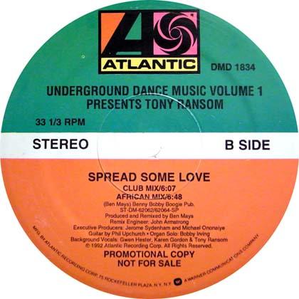 TONY RANSOM / SPREAD SOME LOVE
