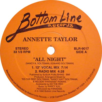 ANNETTE TAYLOR / ALL NIGHT
