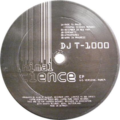 DJ T-1000 / MINIMAL SCIENCE EP (U.S. VERSION)
