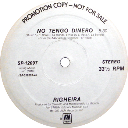 RIGHEIRA / NO TENGO DINERO