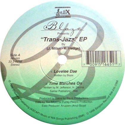 BLAZE / TRANS-JAZZ EP