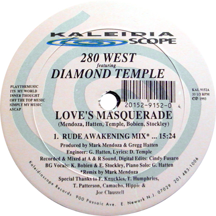 280 WEST Featuring DIAMOND TEMPLE / LOVE'S MASQUERADE