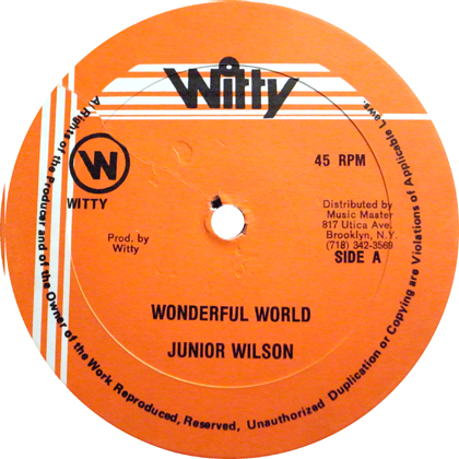 JUNIOR WILSON / WONDERFUL WORLD