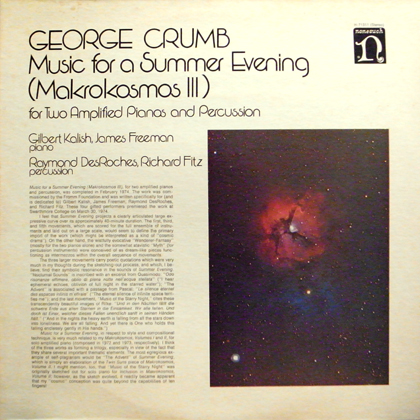 GEORGE CRUMB / MUSIC FOR A SUMMER EVENING