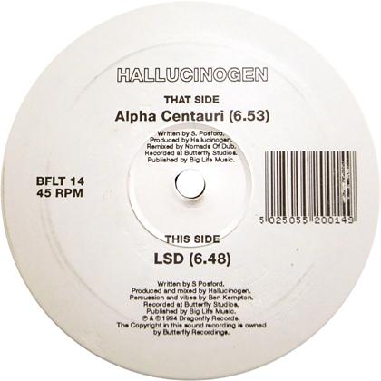 HALLUCINOGEN / ALPHA CENTAURI - LSD