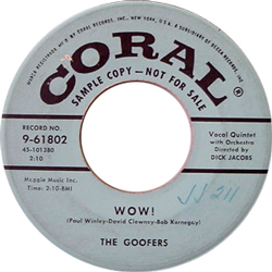 THE GOOFERS / WOW! [USED 7/US]