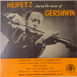 HEIFETS / PLAYING THE MUSIC OF GERSHWIN [USED 10LP/JPN] 2625円