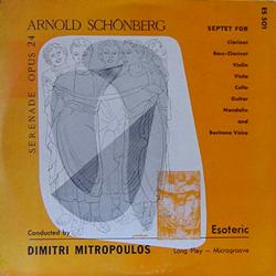 DIMITRI MITROPOULOS / SCHONBERG:SERENADE op.24 [USED LP/US] 7880円