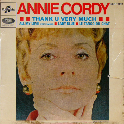 ANNIE CORDY / THANK U VERY MUCH [USED EP/FRANCE] 1260円