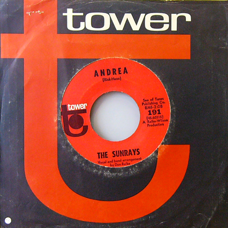 THE SUNRAYS / ANDREA [USED 7inch/US] 1680円