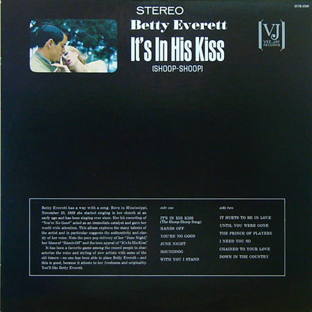 BETTY EVERETT / It's In His Kiss(Shoop-Shoop) [USED LP/JPN] 1470円
