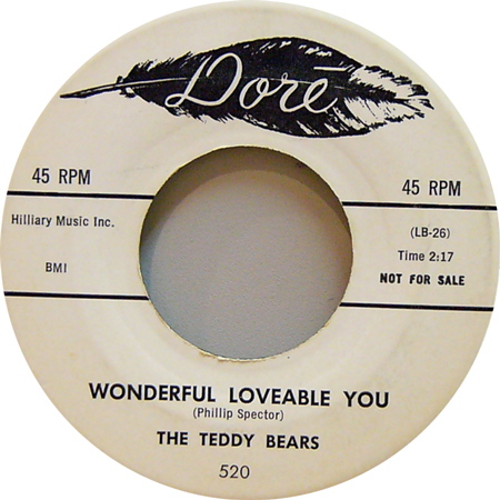 THE TEDDY BEARS / WONDERFUL LOVEABLE YOU [USED 7inch/US] 3990円