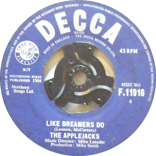 THE APPLEJACKS / LIKE DREAMERS DO [USED 7inch/UK] 1995円