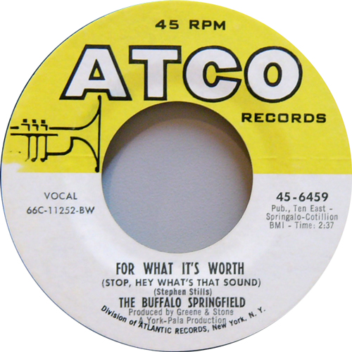 THE BUFFALO SPRINGFIELD / FOR WHAT IT'S WORTH [USED 7inch/US] 1575円