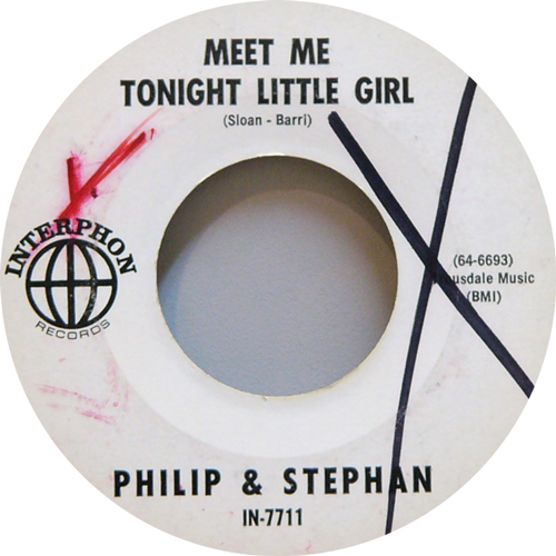 PHILIP & STEPHAN / MEET ME TONIGHT LITTLE GIRL [USED 7inch/US] 1890円