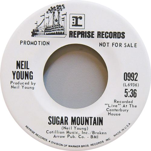 NEIL YOUNG / SUGAR MOUNTAIN [USED 7inch/US] 1575円