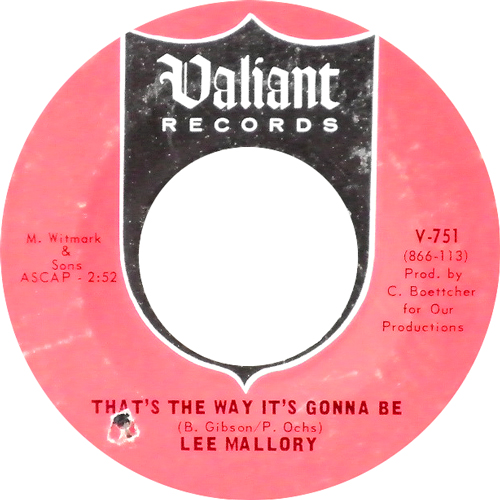 LEE MALLORY / THAT'S THE WAY IT'S GONNA BE [USED 7inch/US] 1890円