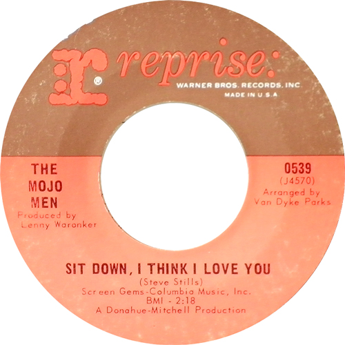 THE MOJO MEN / SIT DOWN,I THINK I LOVE YOU [USED 7inch/US] 1260円