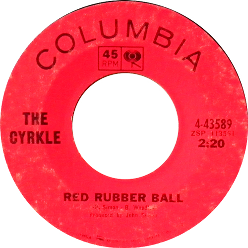 THE CYRKLE / RED RUBBER BALL [USED 7inch/US] 1365円