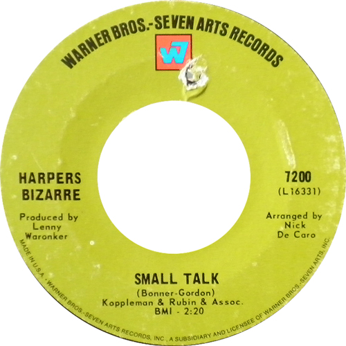 HERPERS BIZARRE / SMALL TALK [USED 7inch /US] 1050円