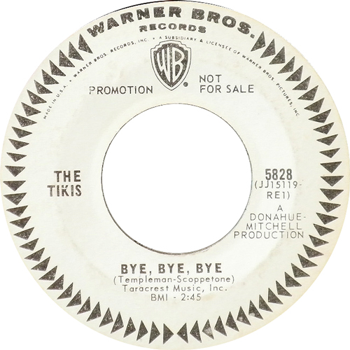 THE TIKIS / BYE BYE BYE [USED 7inch/US] 3990円