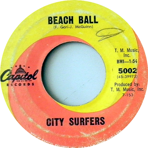 CITY SURFERS / BEACH BALL [USED 7inch/US] 1890円