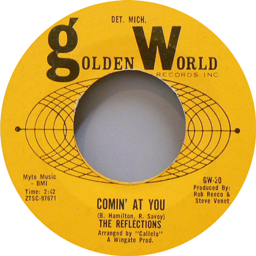 THE REFLECTIONS / COMIN' AT YOU [USED 7inch/US] 1260円