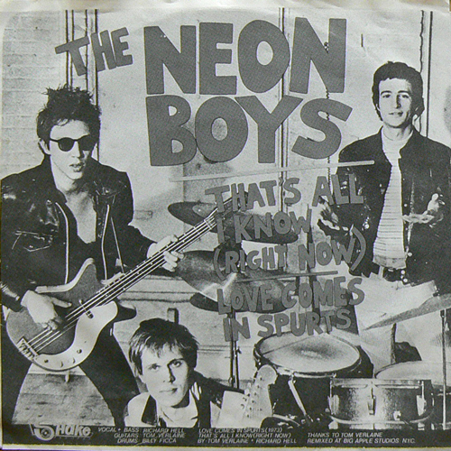 THE NEON BOYS / THAT'S ALL I KNOW [USED EP/US?] 1260円