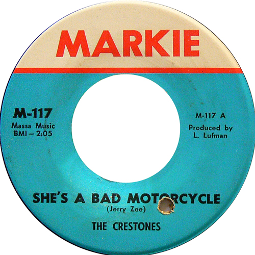 THE CRESTONES / SHE'S A BAD MOTORCYCLE [USED 7inch/US] 2500円