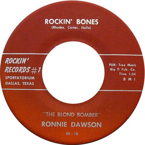 RONNIE DAWSON / ROCKIN' BONES [USED 7inch/US] 1600円
