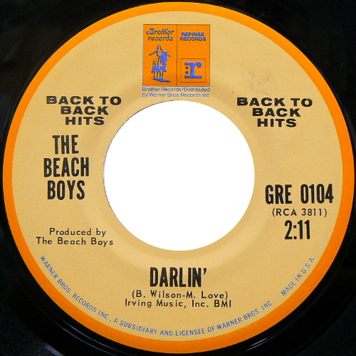 THE BEACH BOYS / DARLIN' [USED 7inch/US] 800円