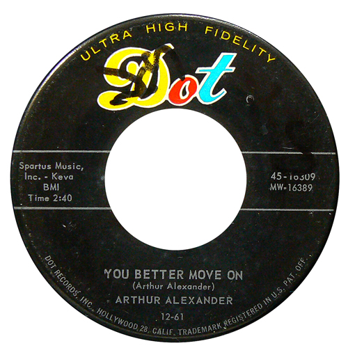 ARTHUR ALEXANDER / YOU BETTER MOVE ON [USED 7inch/US] 1200円