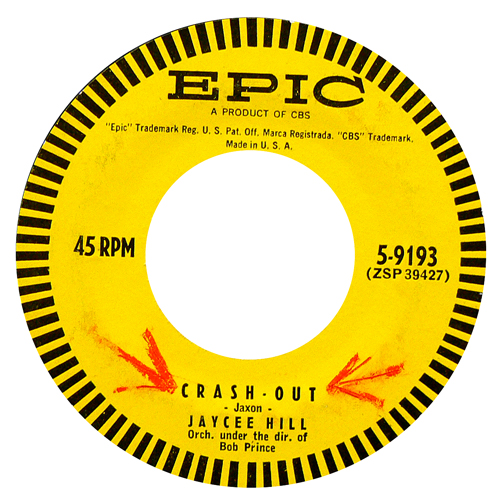 JAYCEE HILL / CRASH OUT [USED 7inch/US] 2300円