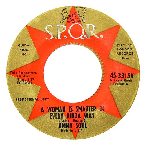 JIMMY SOUL / A WOMAN IS SMARTER IN EVERY KINDA WAY [USED 7inch/US] 1000円