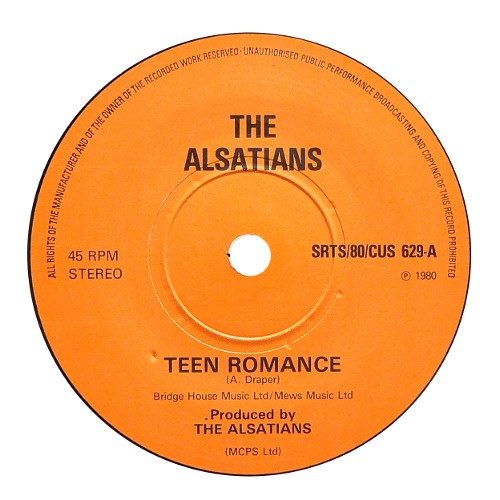 THE ALSATIANS / TEEN ROMANCE [USED 7inch/UK] 3800円