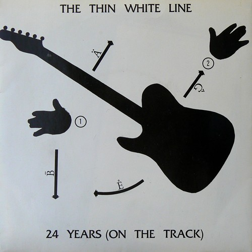 THE THIN WHITE LINE / 24YEARS(ON THE TRACK) [USED 7inch/UK] 3000円